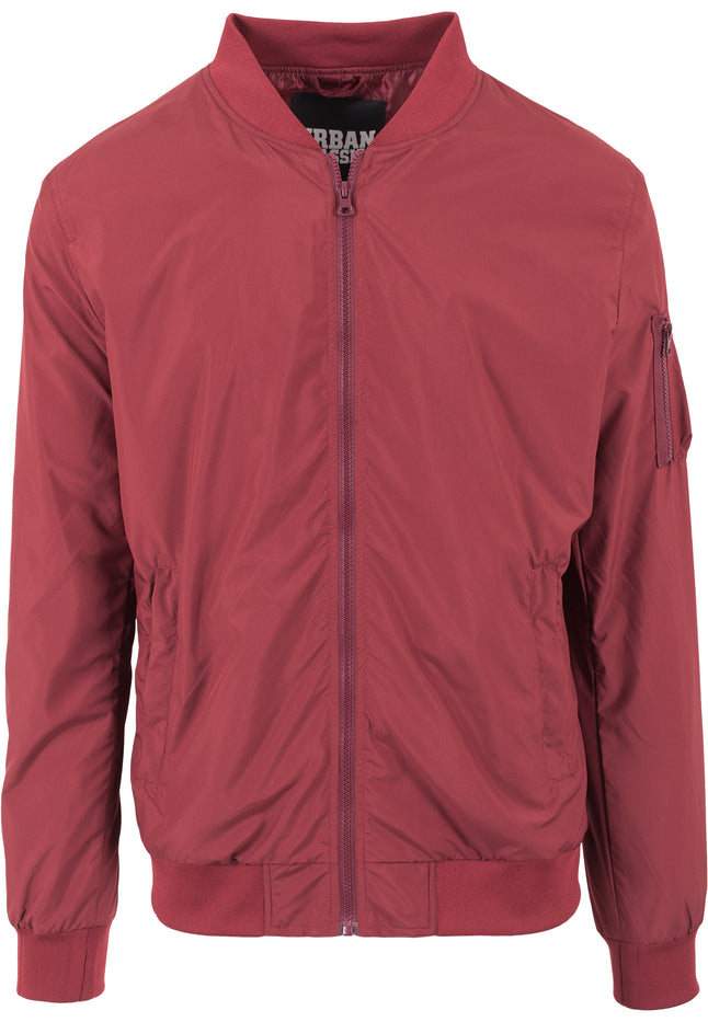 Light Bomber Jacket burgundy
