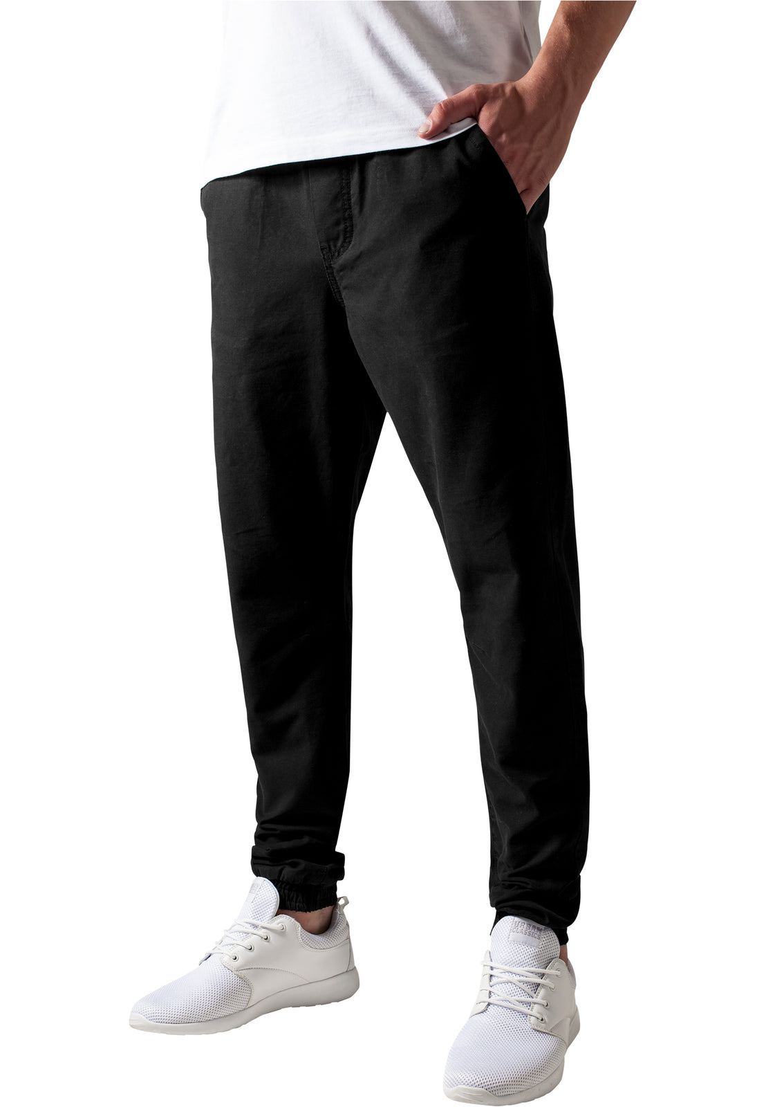 Washed Canvas Jogging Pants black