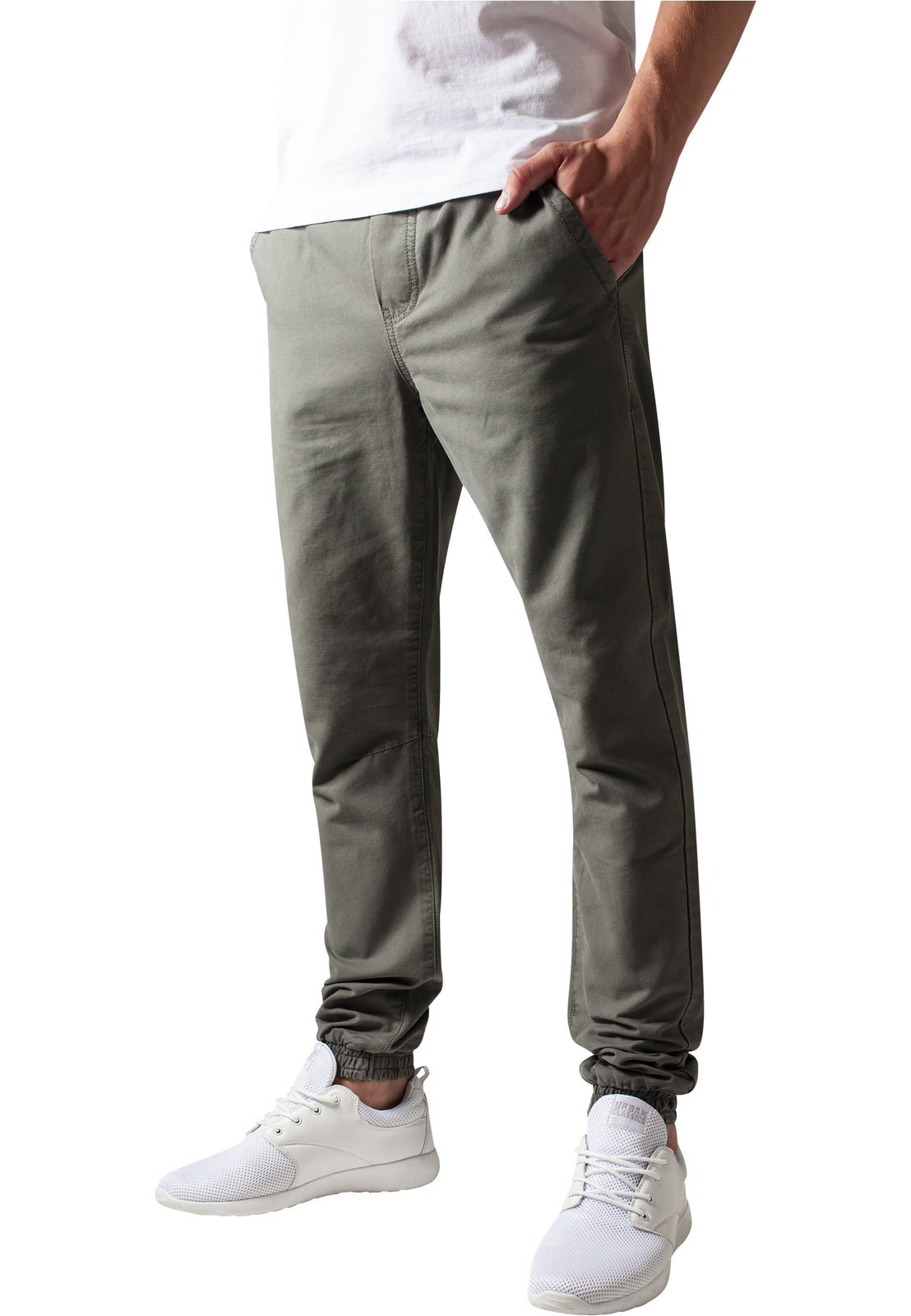 Washed Canvas Jogging Pants olive
