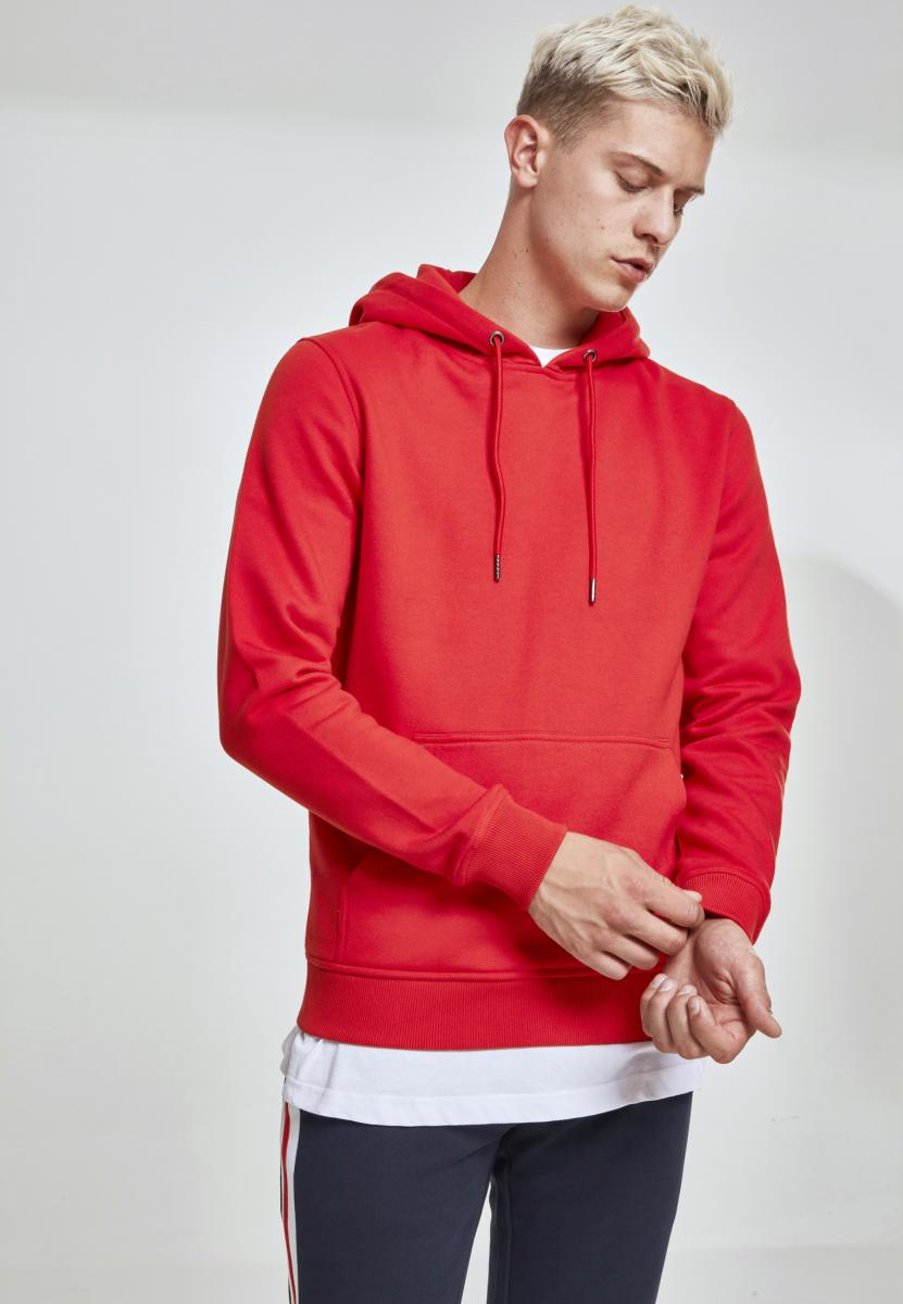 Basic Sweat Hoody fire red