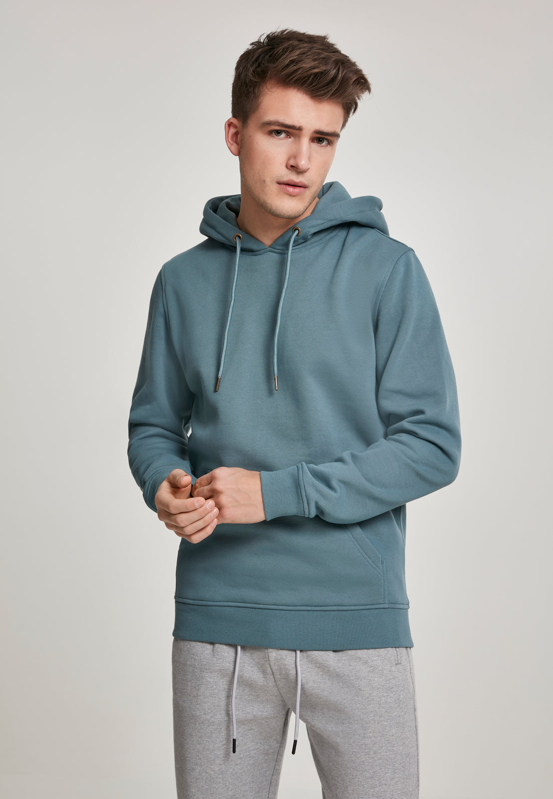 Basic Sweat Hoody dusty blue