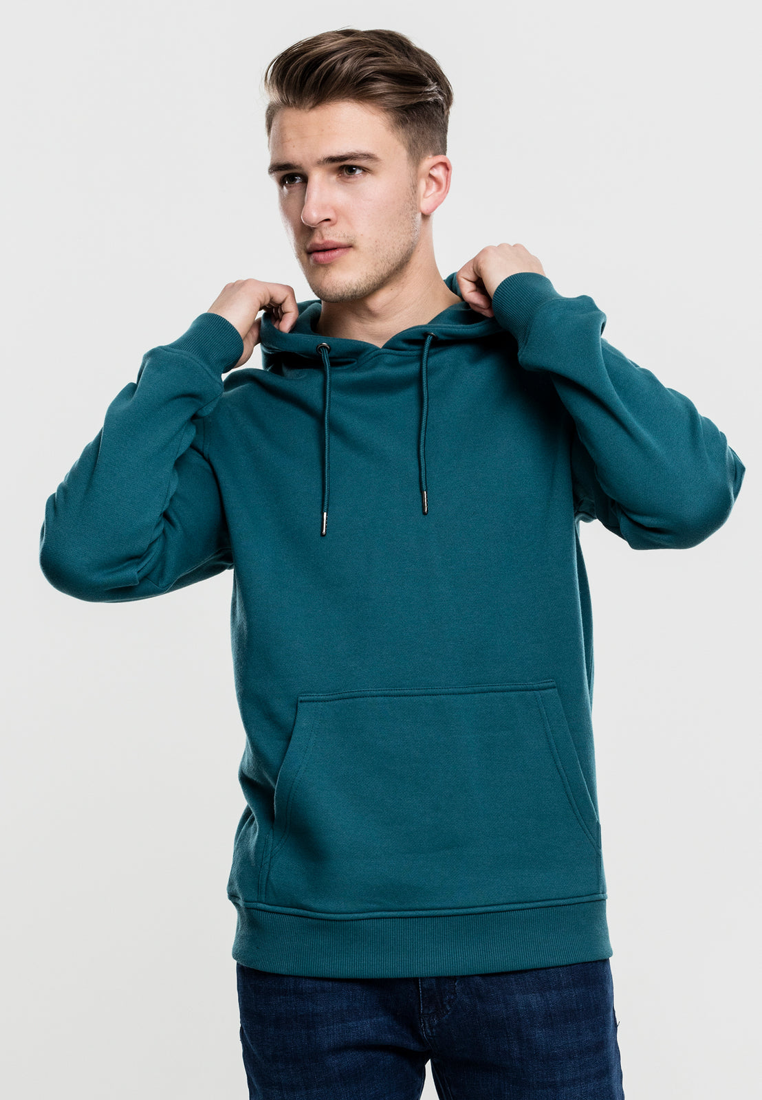 Basic Sweat Hoody teal