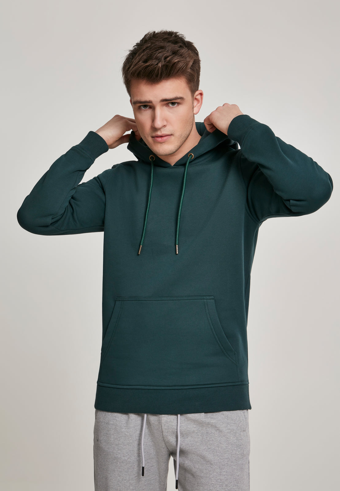 Basic Sweat Hoody bottlegreen