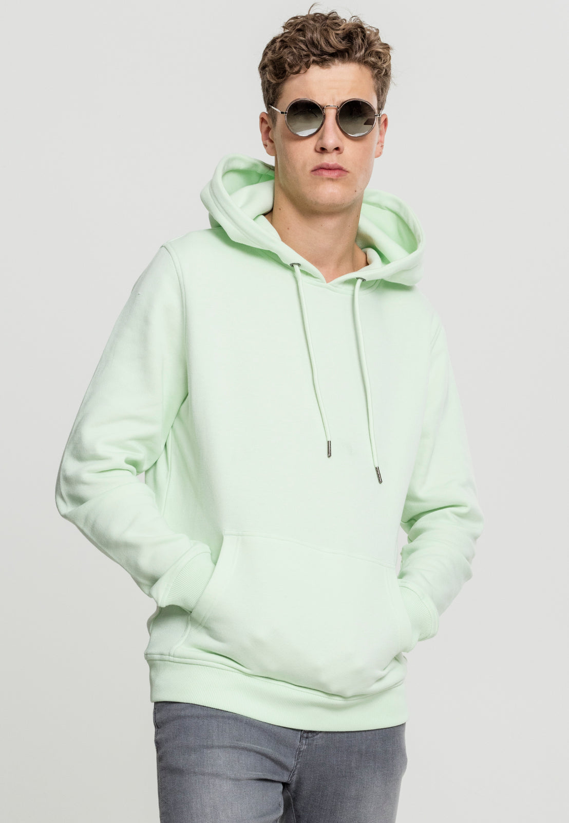 Basic Sweat Hoody light mint