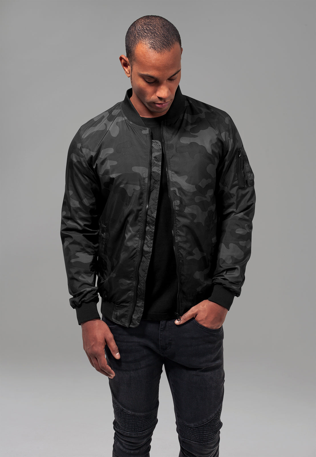 Light Camo Bomber Jacket darkcamo