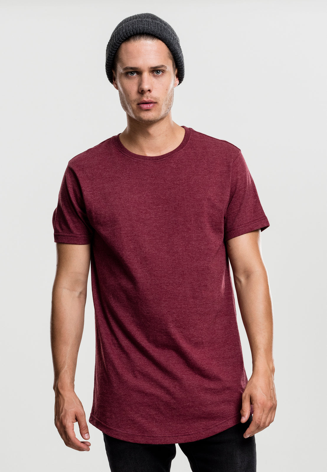 Shaped Melange Long Tee cherry