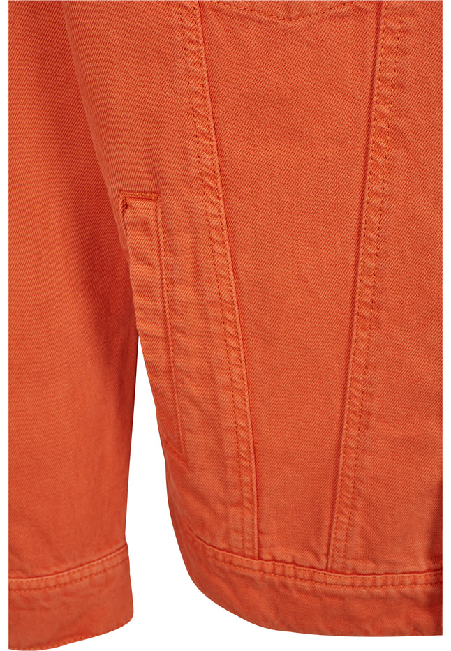 Oversize Garment Dye Jacket rust orange