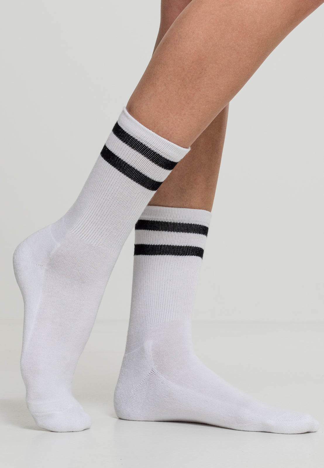 2-Stripe Socks 2-Pack white/black