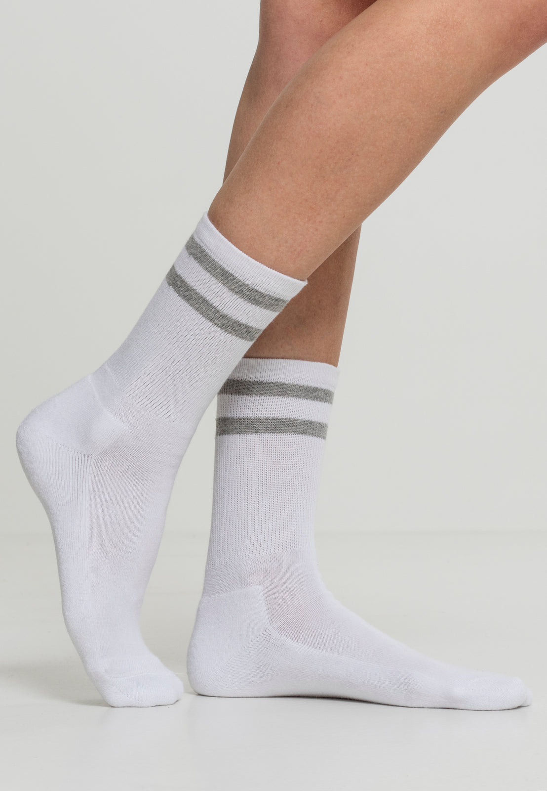 2-Stripe Socks 2-Pack white/lightgrey
