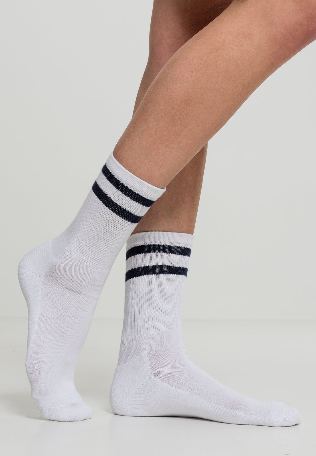 2-Stripe Socks 2-Pack white/navy
