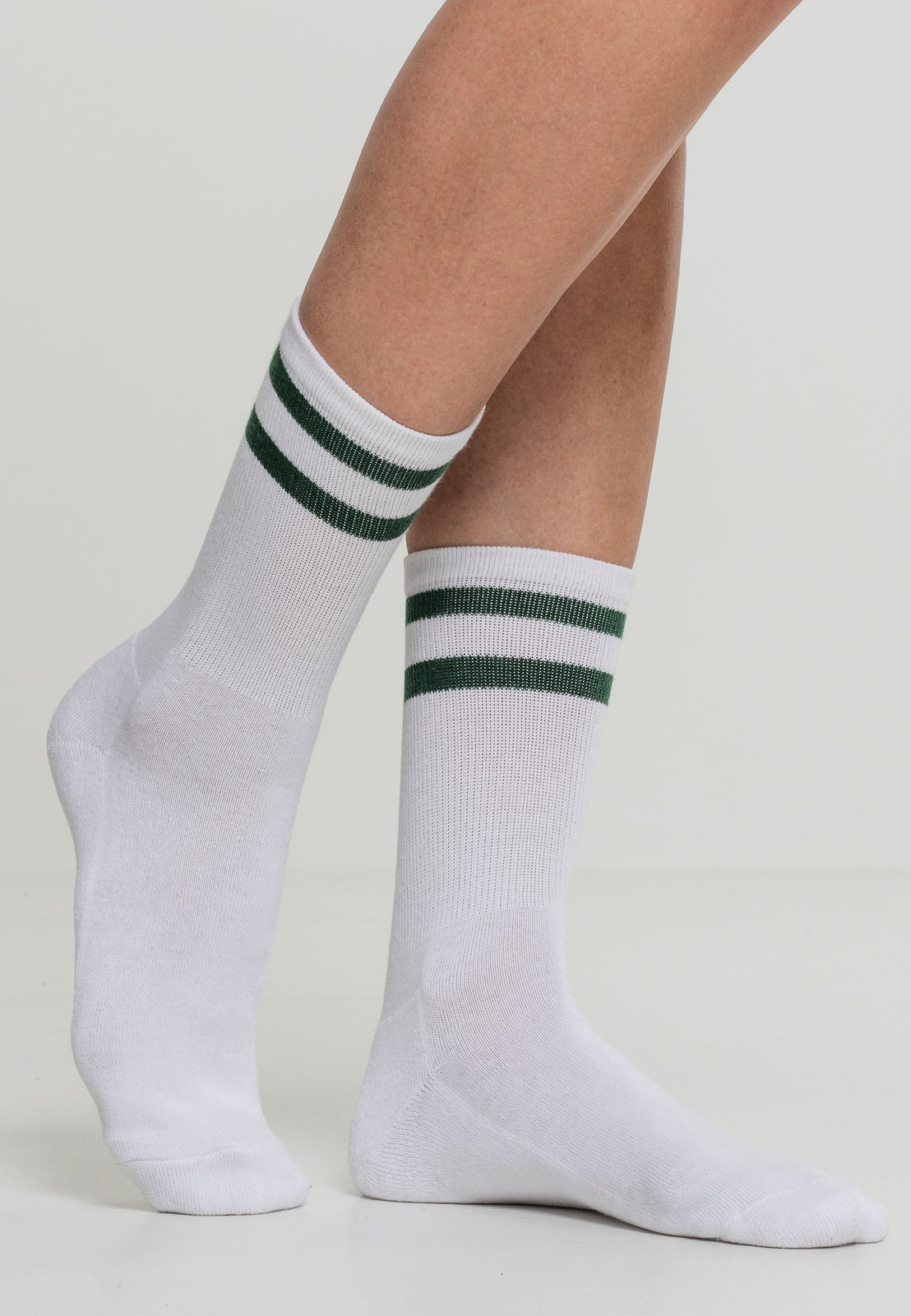 2-Stripe Socks 2-Pack white/green