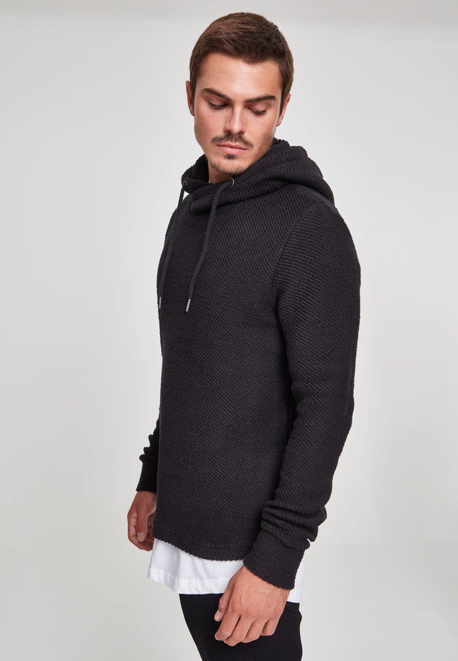 Loose Terry Inside Out Hoody black