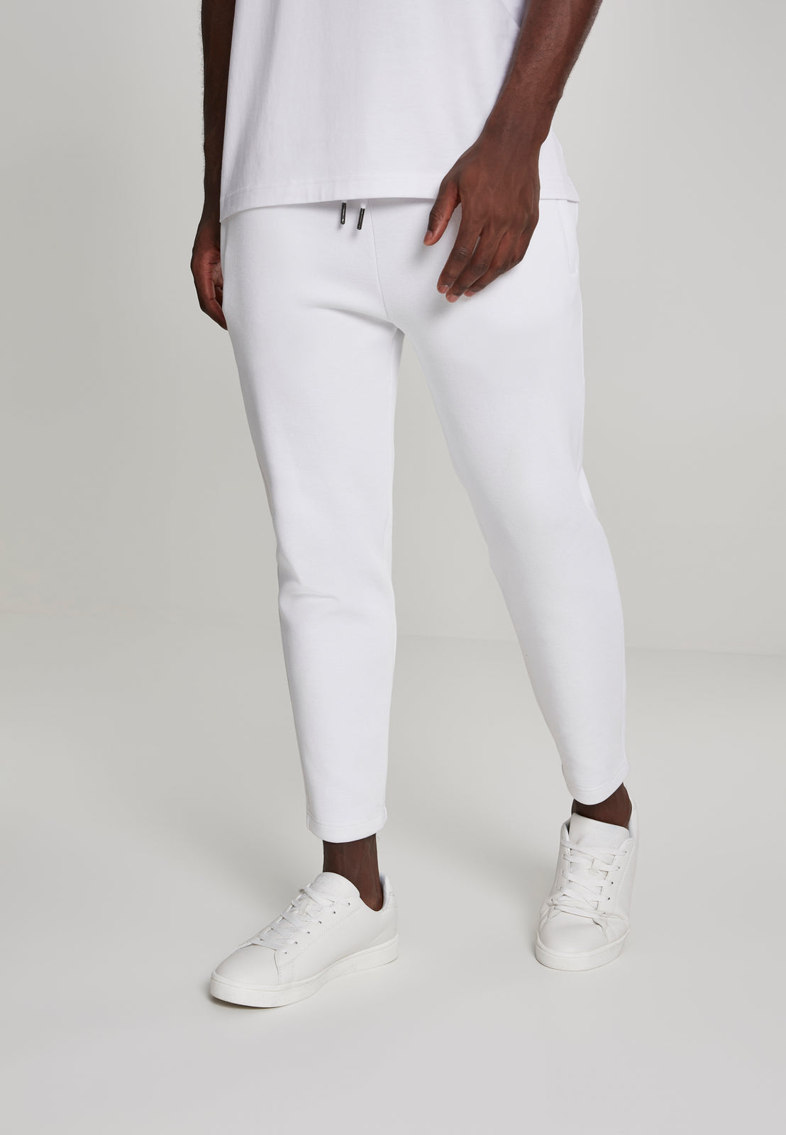 Cropped Heavy Pique Pants white