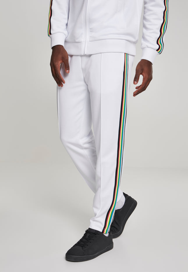 Side Taped Track Pants wht/multicolor