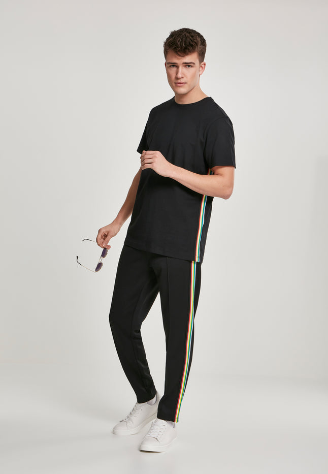 Side Taped Track Pants blk/multicolor