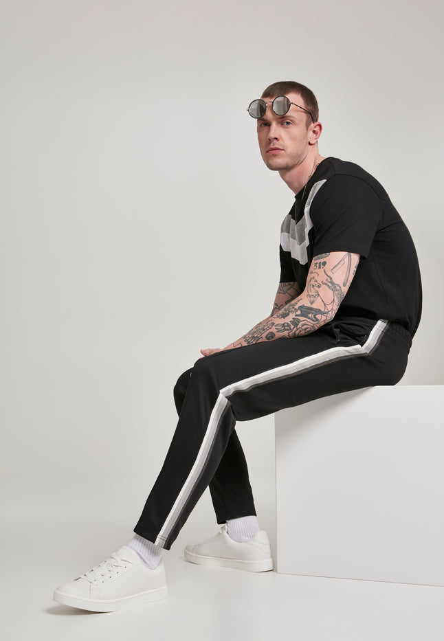 Side Taped Track Pants blk/gry