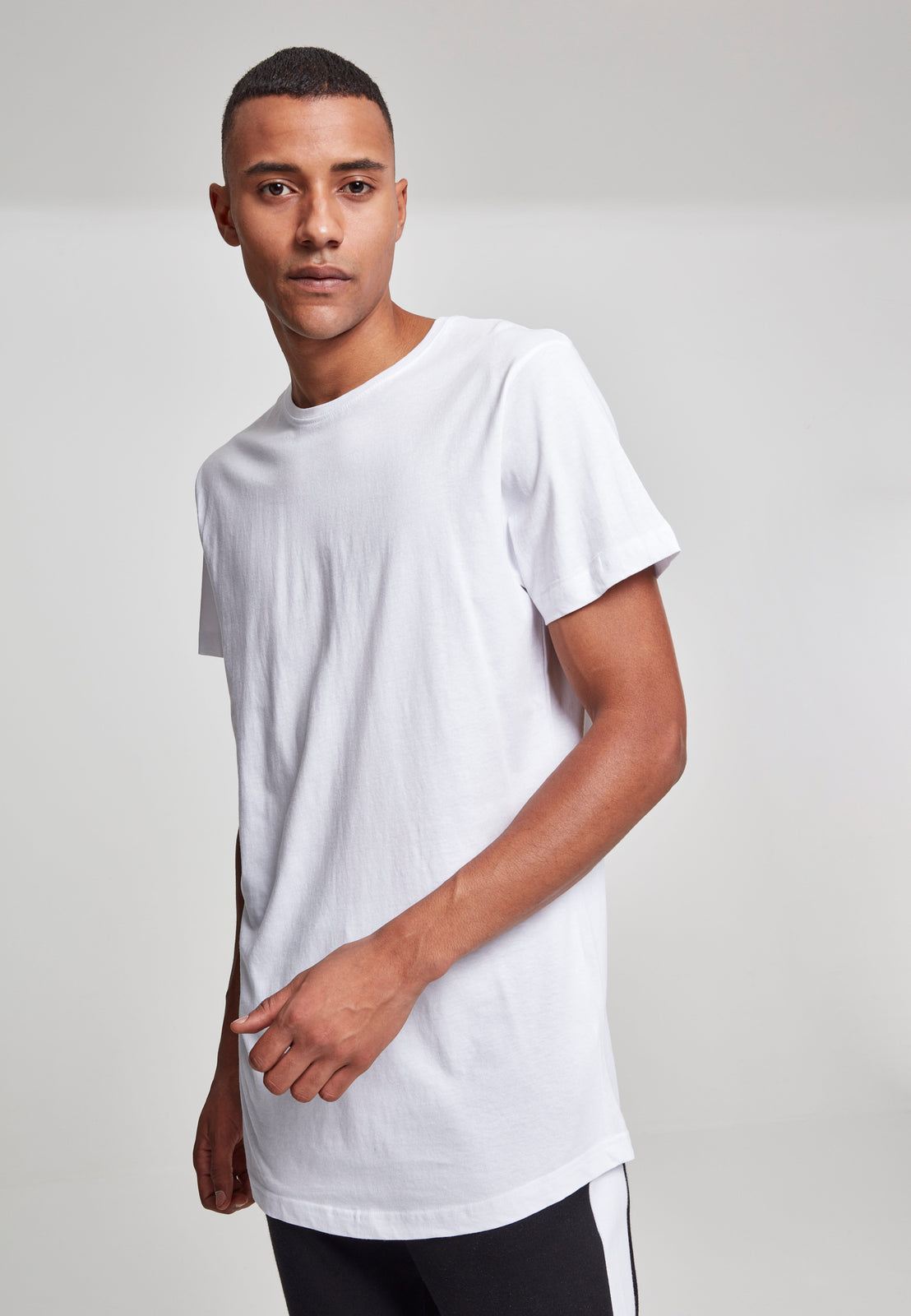 Shaped Long Tee white