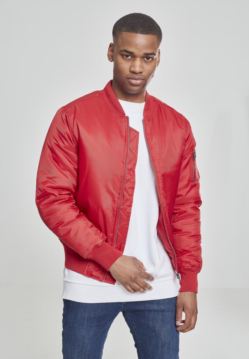 Basic Bomber Jacket fire red