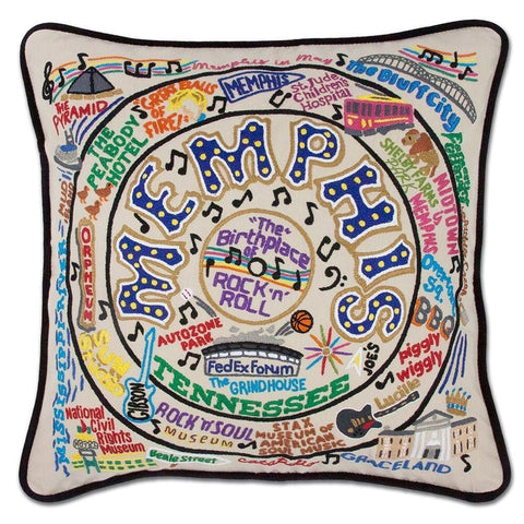 Memphis Embroidered Pillow