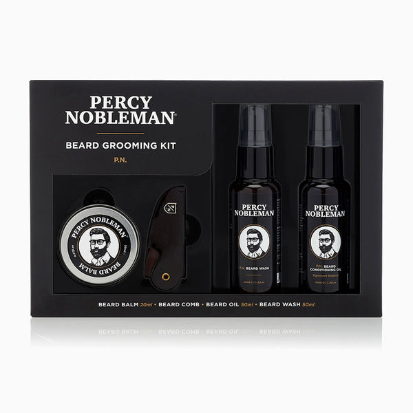 Percy Nobleman Beard Grooming Kit Front
