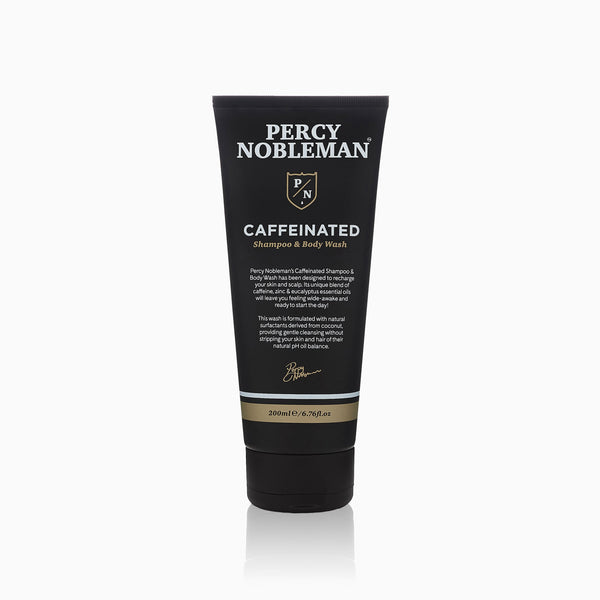 Percy Nobleman Caffeinated Shampoo & Body Wash 200ml Front