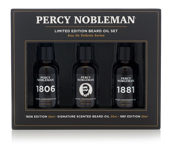 Percy Nobleman Limited Edition Beard Oil Set Front