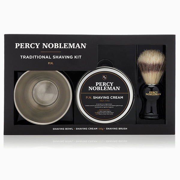 Percy Nobleman Traditional Shaving Kit Front