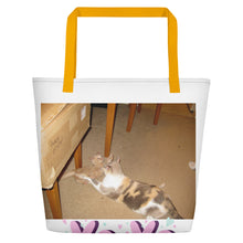 "Load image into Gallery viewer, Z Jennebelle Collection, Angel & Jester, ""I Love My Brother""  Beach Bag"