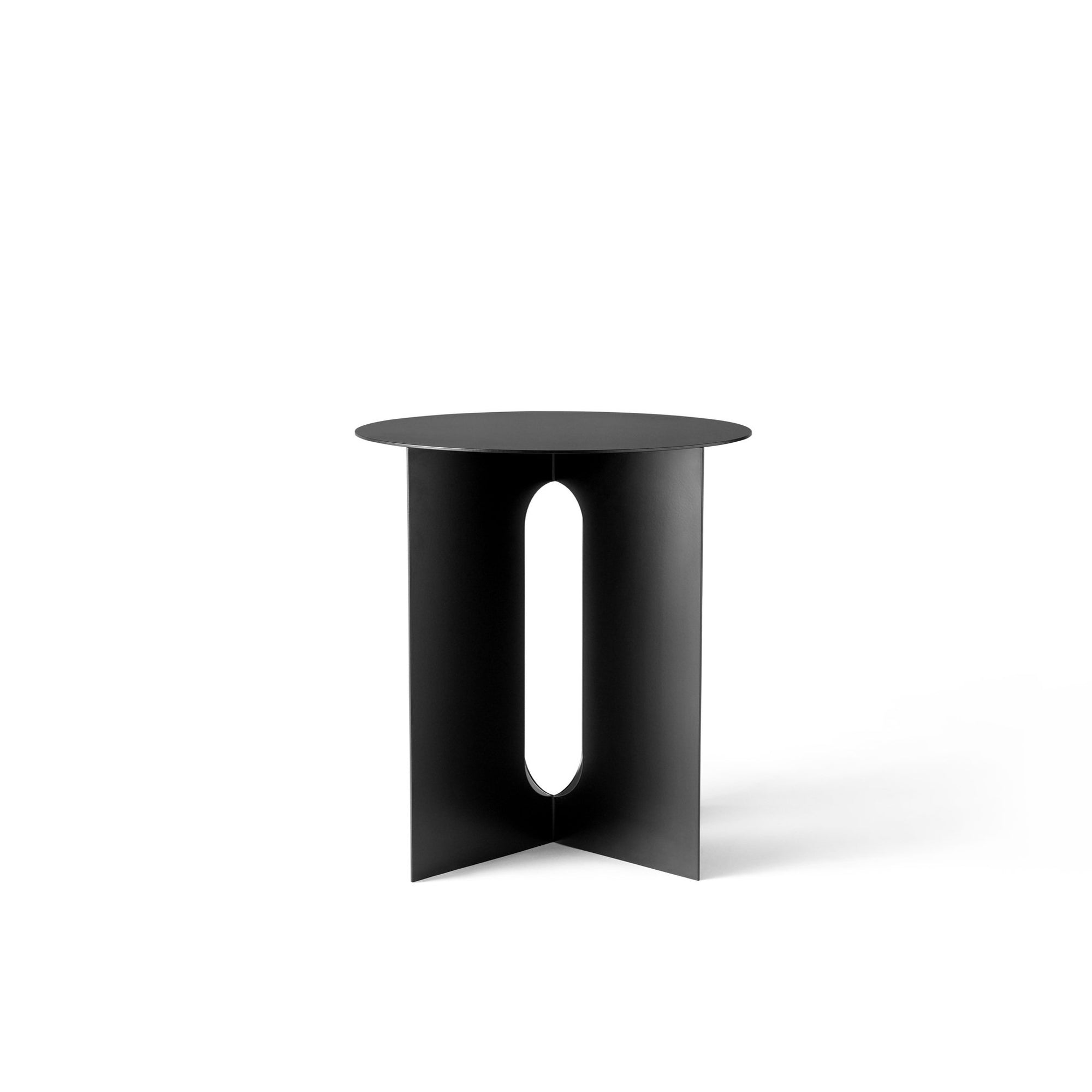 Androgyne Side Table, Steel Base, Black