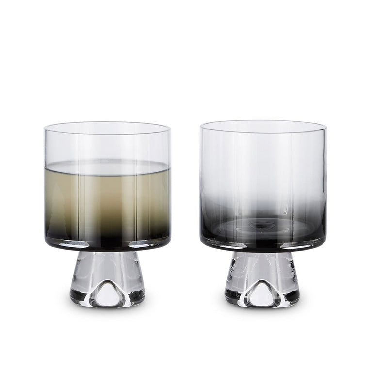 Tom Dixon Tank Low Ball Glasses Black S/2