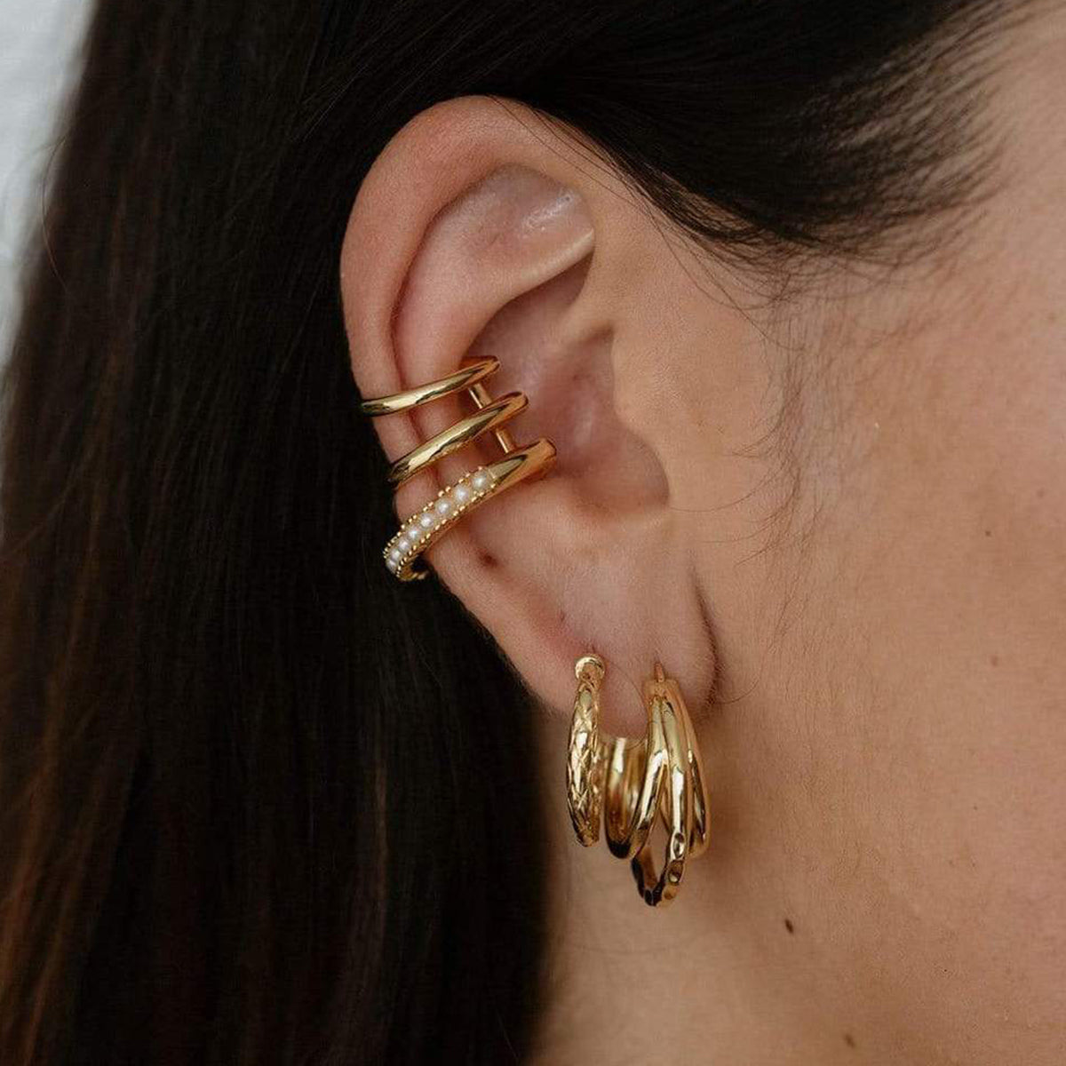 Snakeskin Hoop Earrings