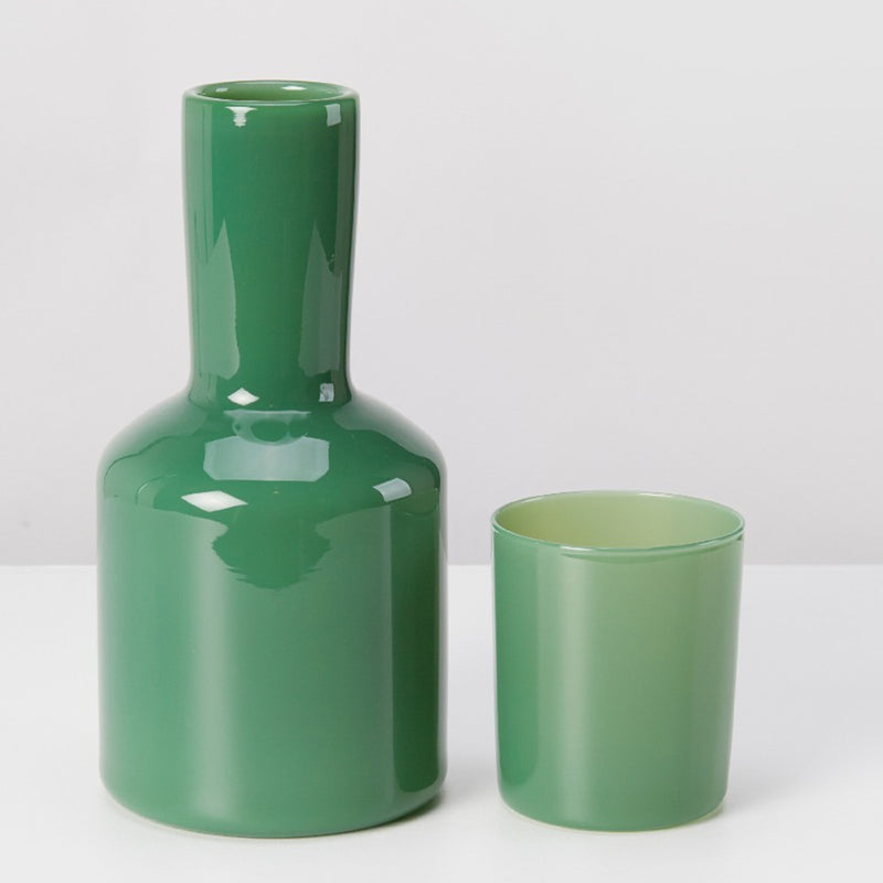J'ai Soif Carafe & Glass, Opaque Dark Green