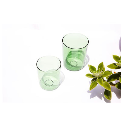 4 Medium Goblets, Opaque Dark Green