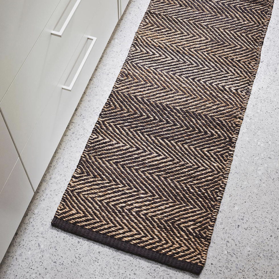 Serengeti Weave Entrance Mat- Charcoal & Natural 0.5 x 1.4m