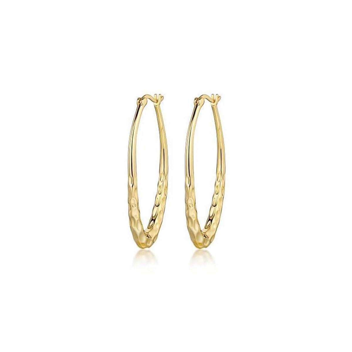Long Ride Hammered Hoop Earrings
