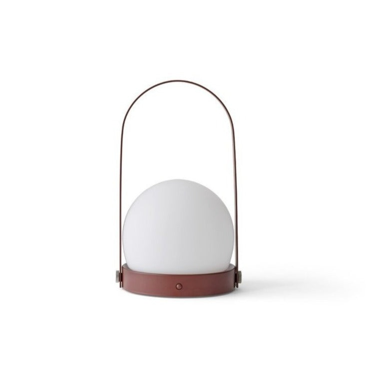 Carrie Table LED Lamp - Matte Burnt Red