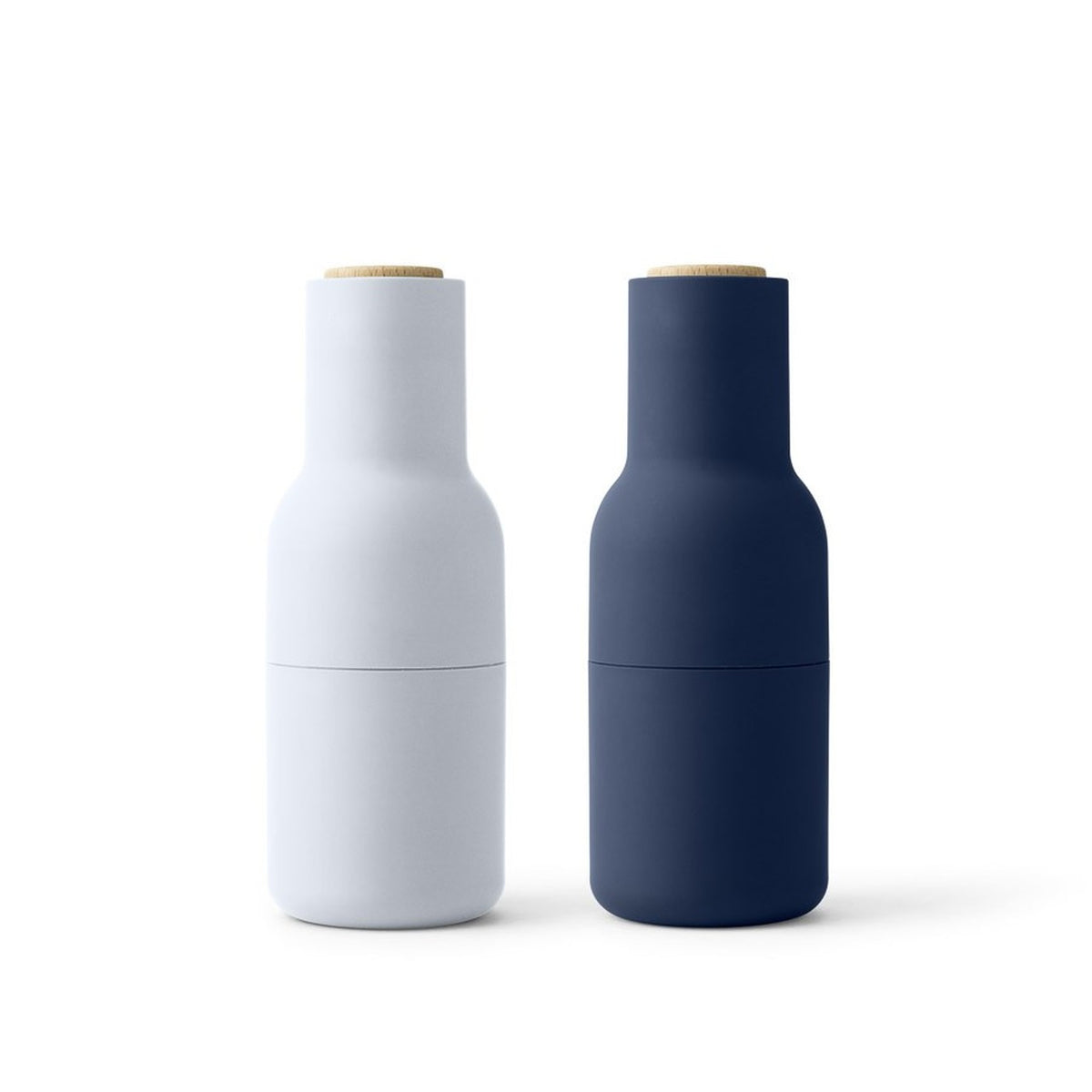 Menu Bottle Grinder Classic Blue, Wooden Top, by Norm Architects