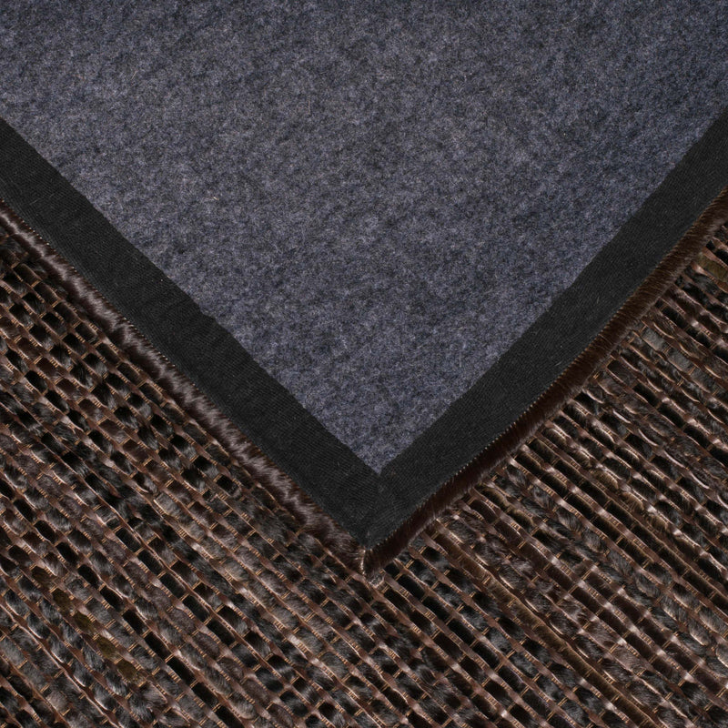 Leather Weaved Rug