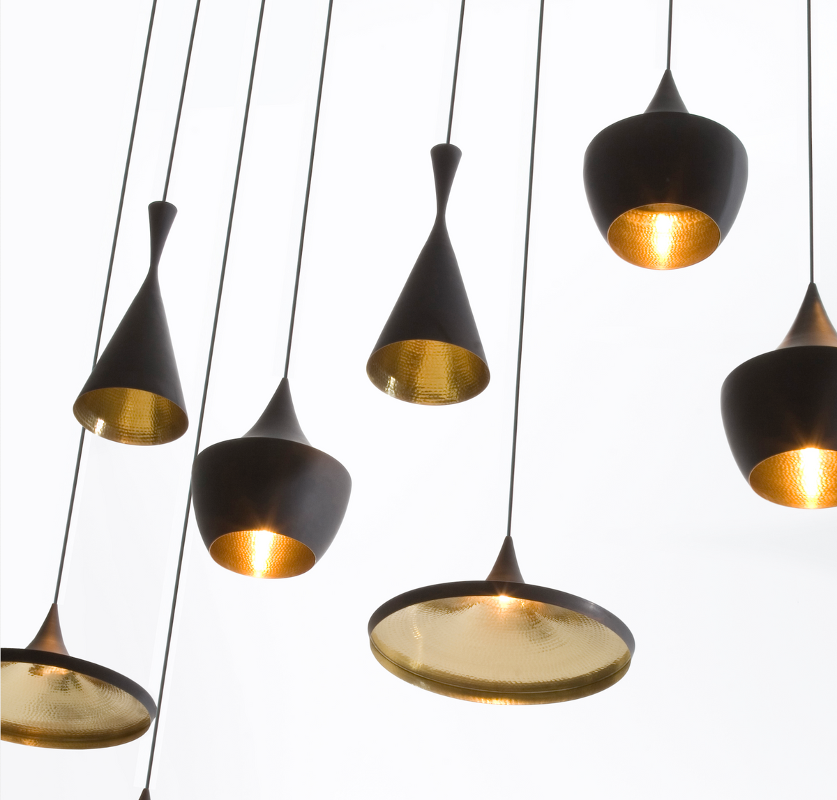 Beat Fat Pendant Black by Tom Dixon
