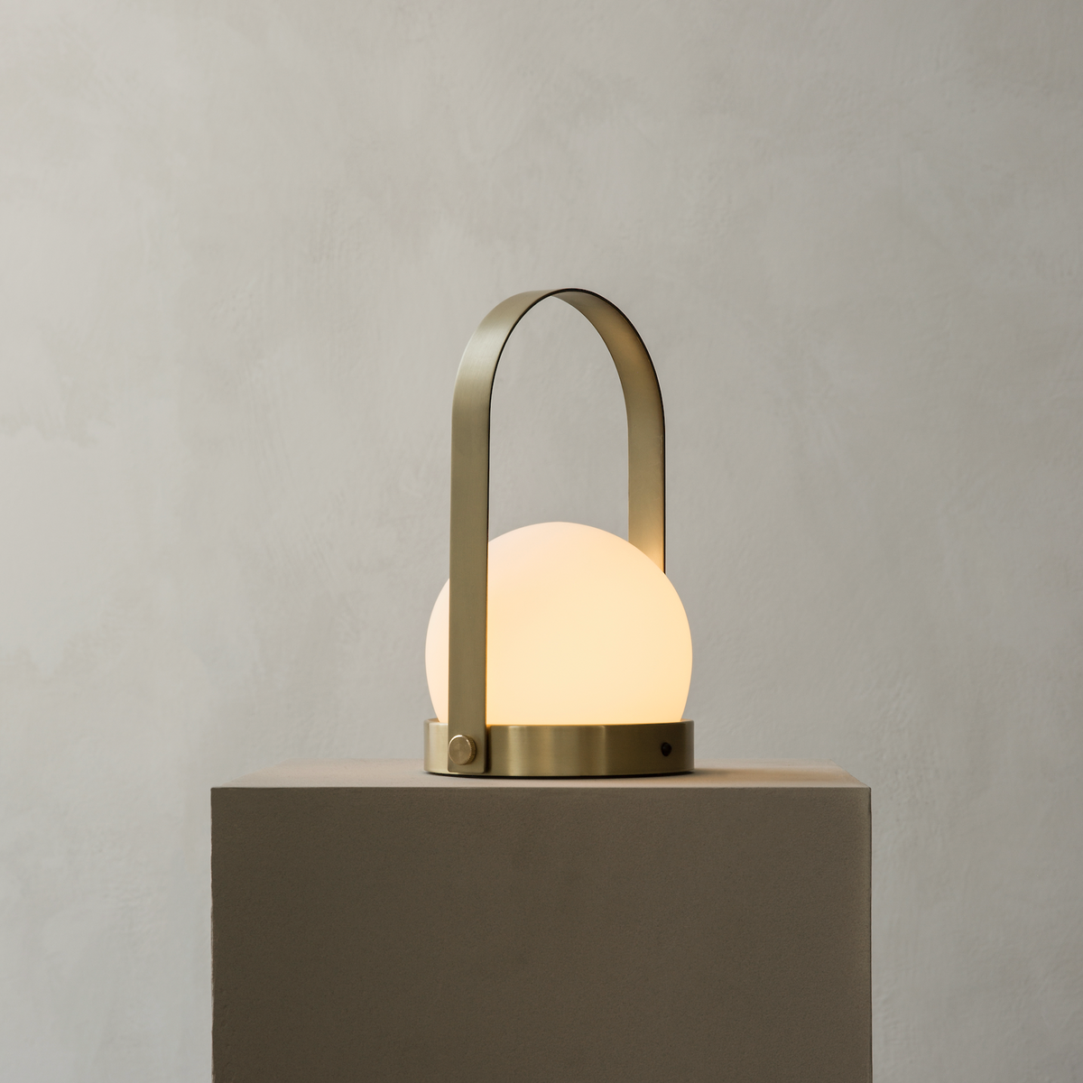Menu Carrie LED Lamp Brushed Brass