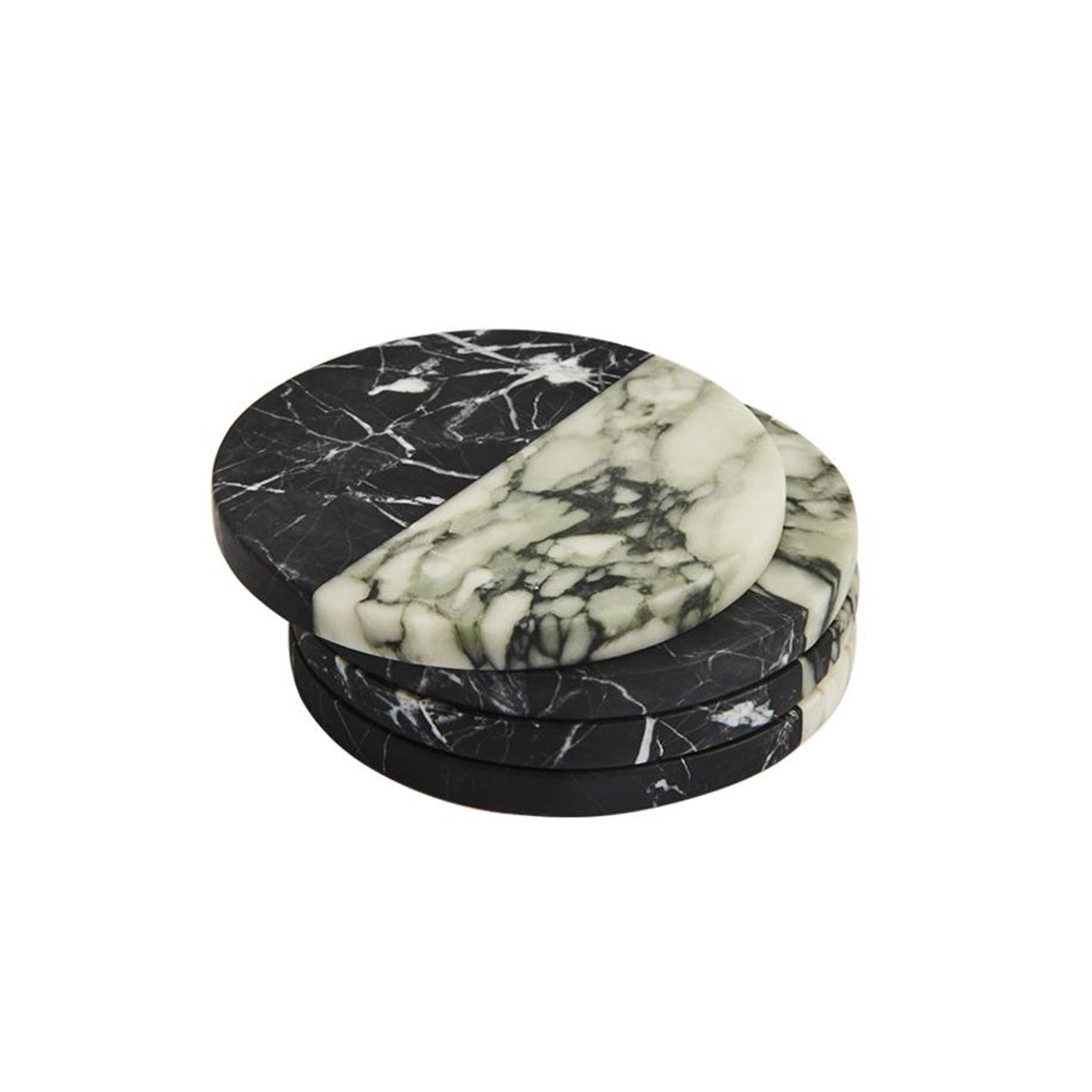 Polar Coaster Nero and Fiore Set of 4