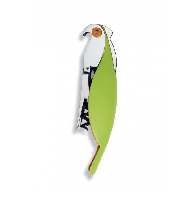 Alessi- Sommelier corkscrew - Parrot- Green