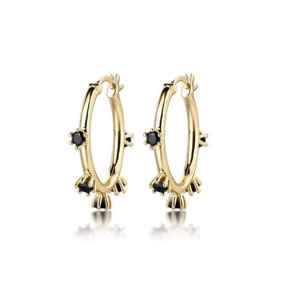 Adele Spike Hoops Earrings