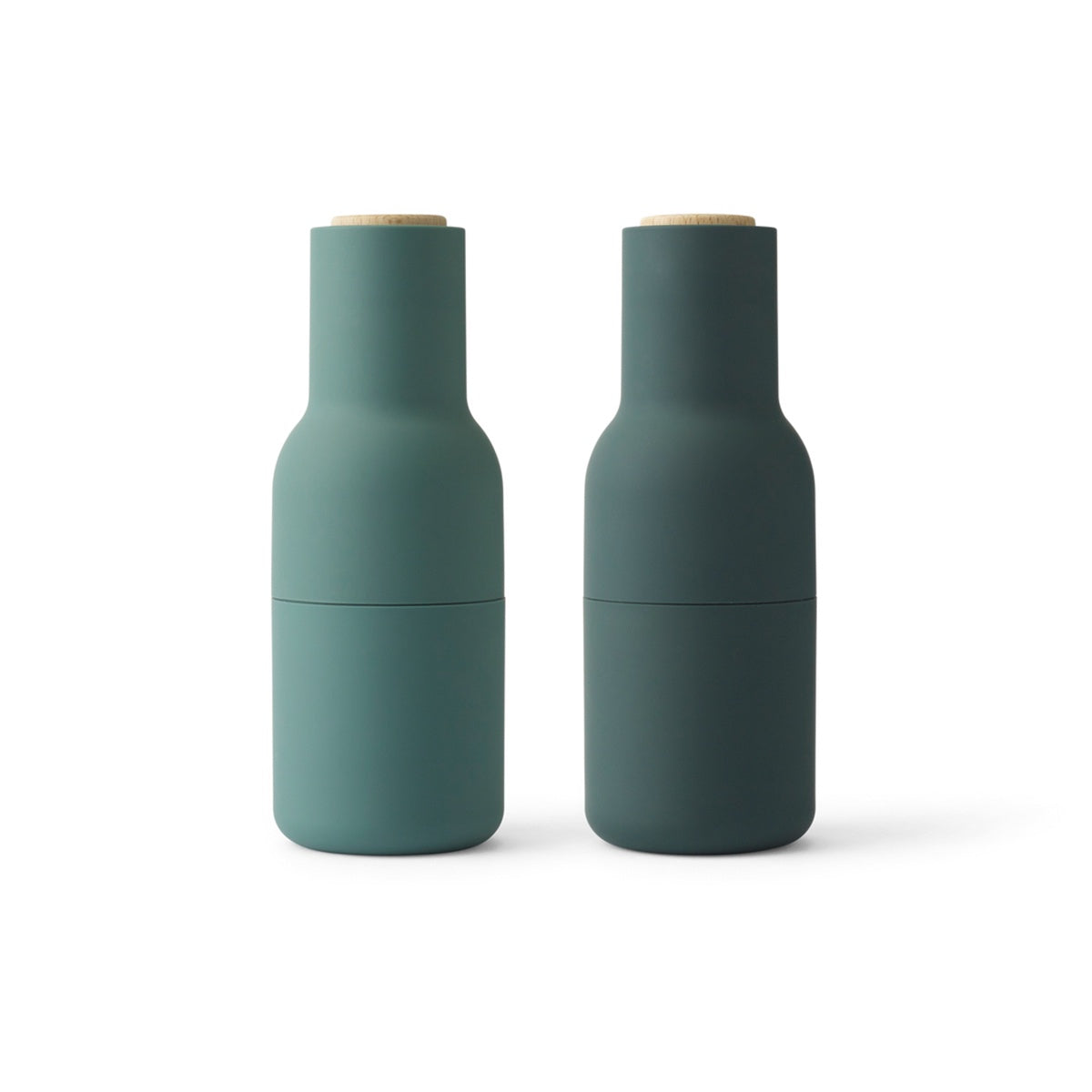 Menu, Bottle Grinder, Dark Green W. Walnut Lid, 2-Pack by Norm Architects