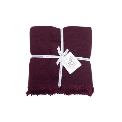 Avenue Throw- Bordeaux