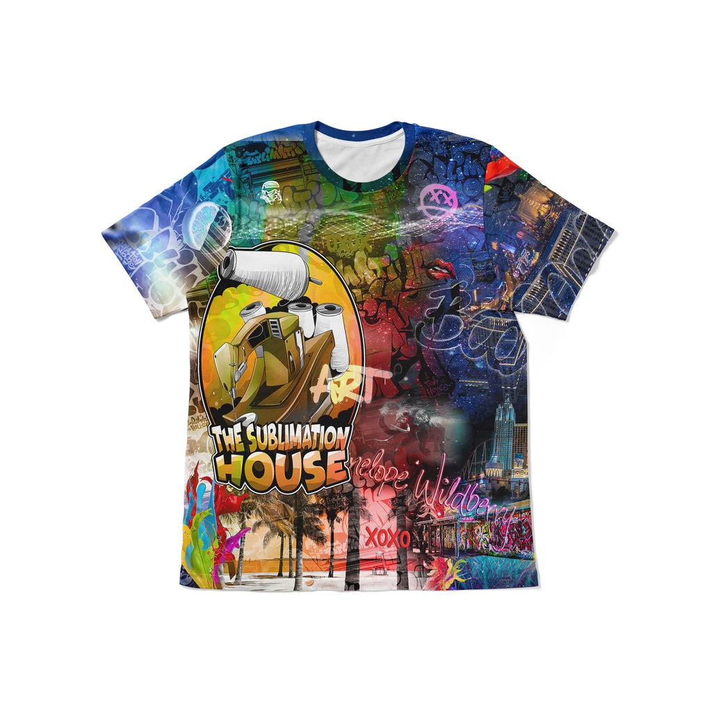 MENS CUSTOM SUBLIMATED T SHIRT - REGULAR