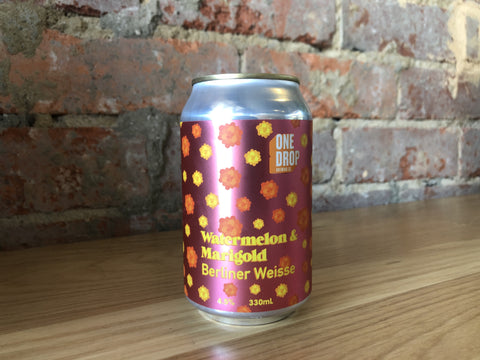 One Drop - Watermelon Marigold Berliner Weisse