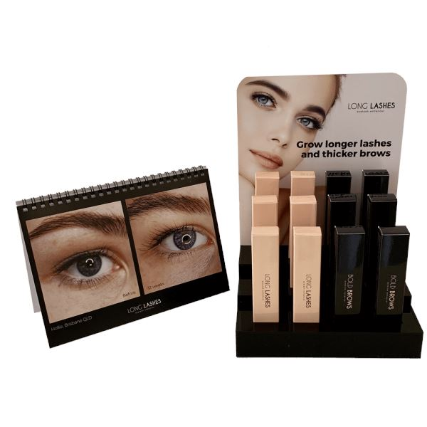 Beautiful Long Lashes & Bold Brow Display Duo PHYSICAL Lash Kings Distribution