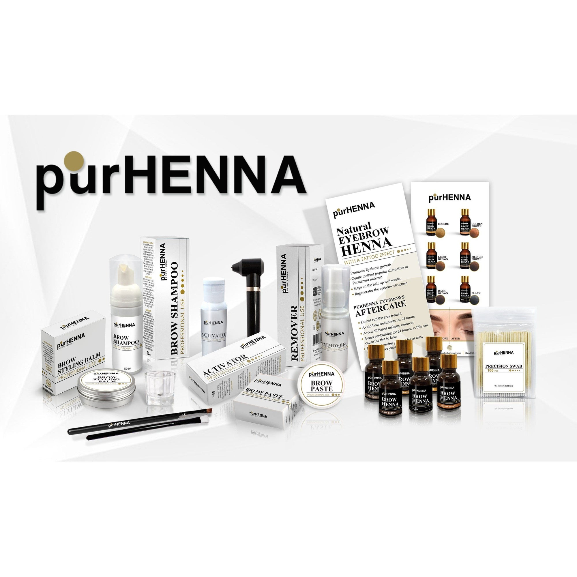 PurHenna Brow Henna Kit + FREE online Workshop - Lash Kings
