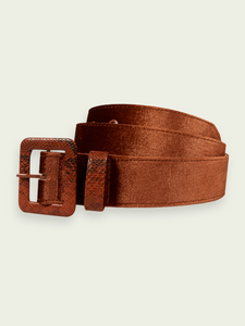 MASION SCOTCH Velvet Belt